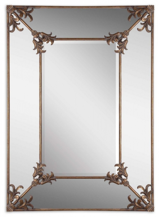 Ansonia Antique Gold Mirror