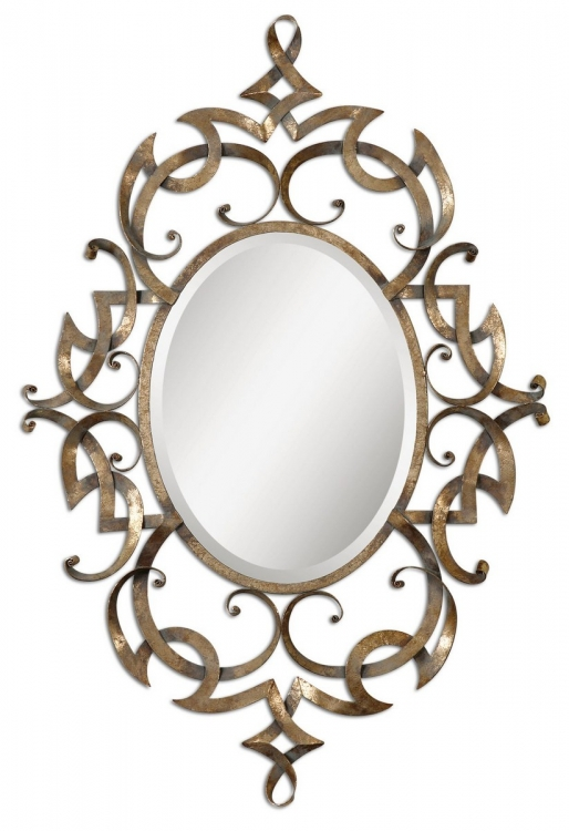 Ameno Antique Gold Mirror