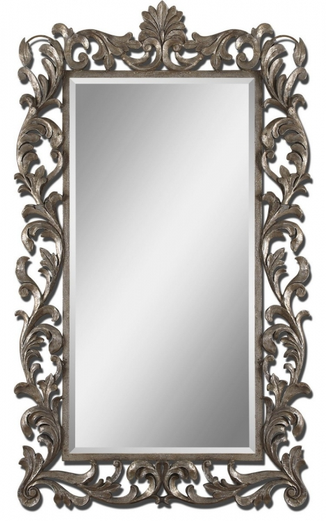 Molise Large Silver Mirror