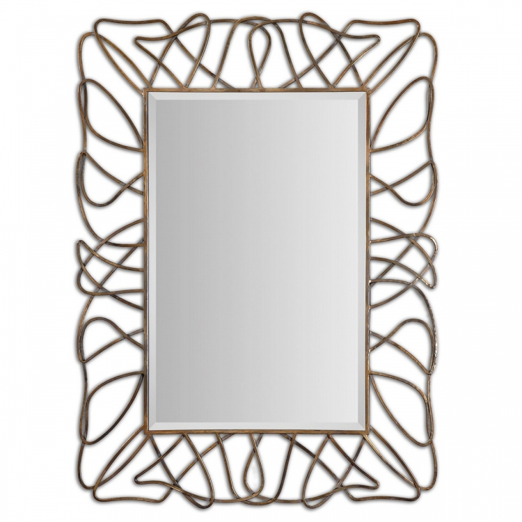 Halsey Gold Metal Mirror