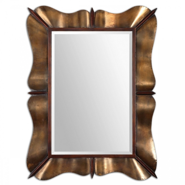Bowery Curved Metal Mirror