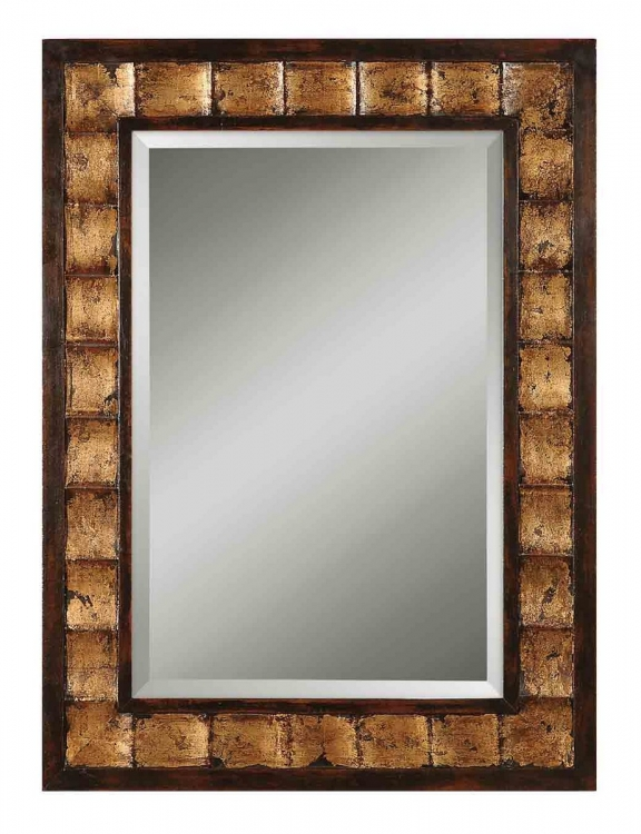 Justus Decorative Gold Mirror