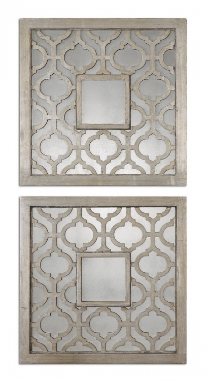 Sorbolo Squares Decorative Mirror - Set of 2