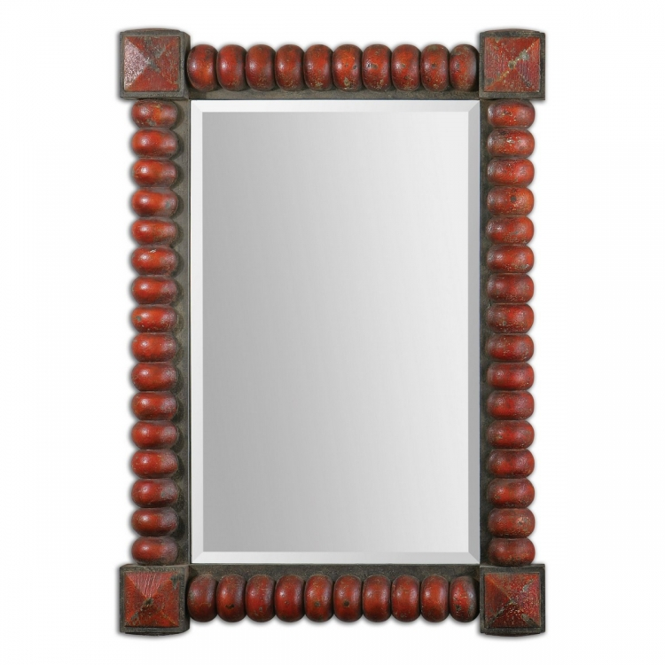 Clancy Rust Red Mirror