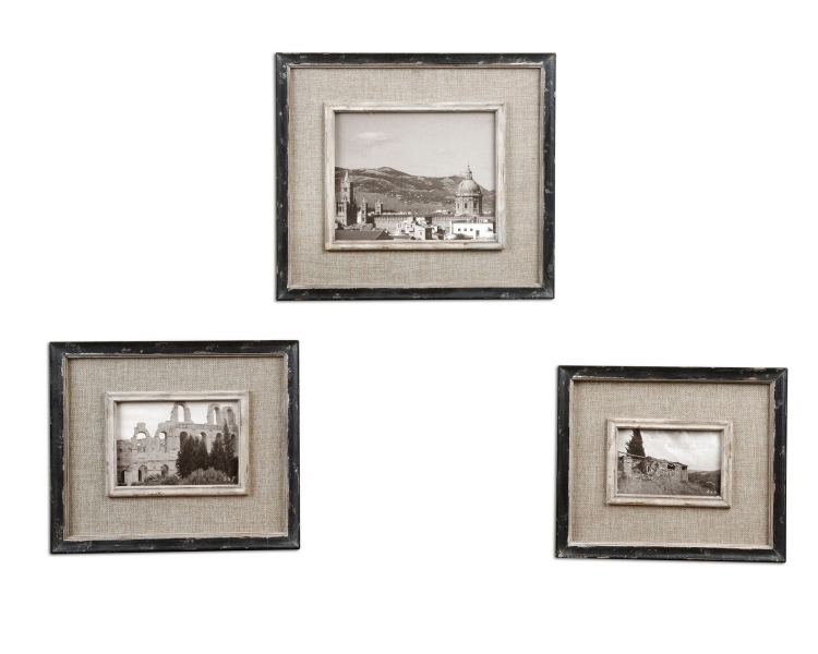 Kalidas Cloth Lined Photo Frames - Set of 3