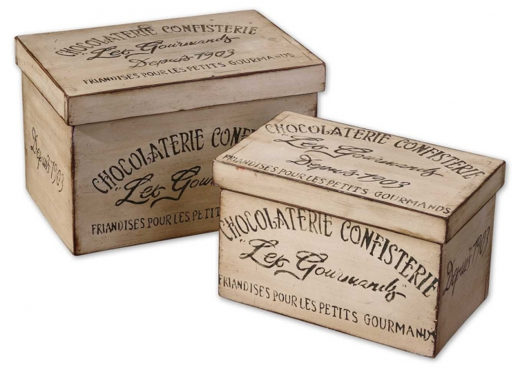 Chocolaterie Decorative Boxes - Set of 2