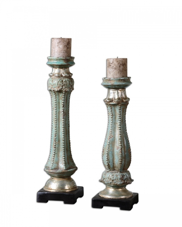 Deniz Ceramic Candleholders - Set of 2
