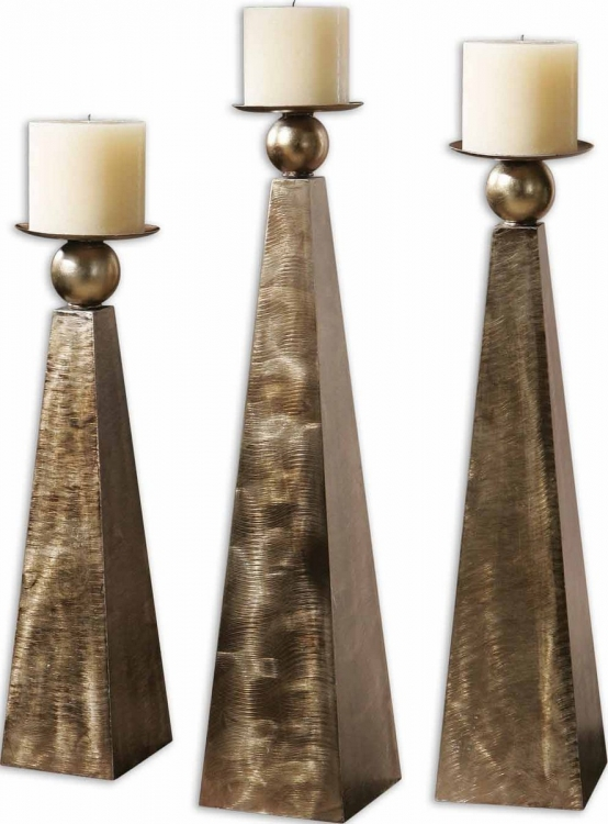 Cesano Bronze Candleholders - Set of 3