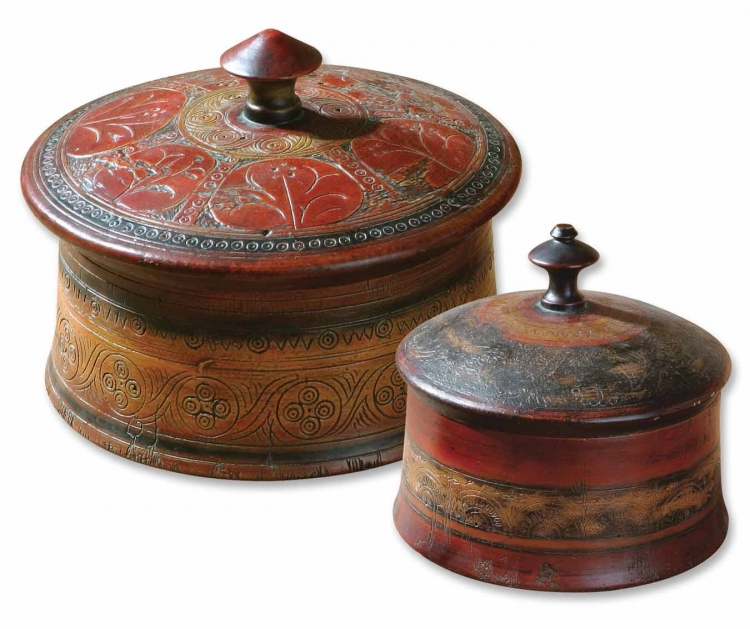 Sherpa Decorative Boxes - Set of 2