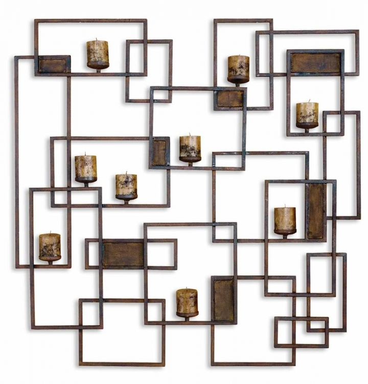 Siam Metal Candlelight Wall Sculpture