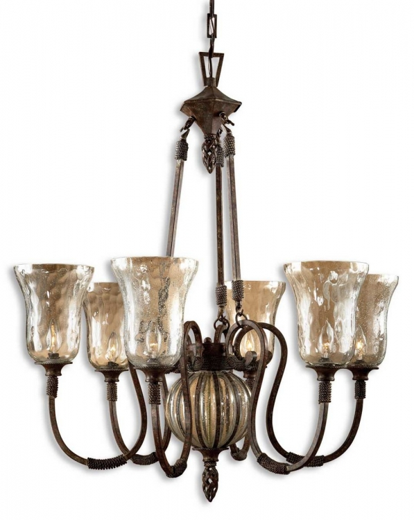 Galeana 6 Light Iron Chandelier