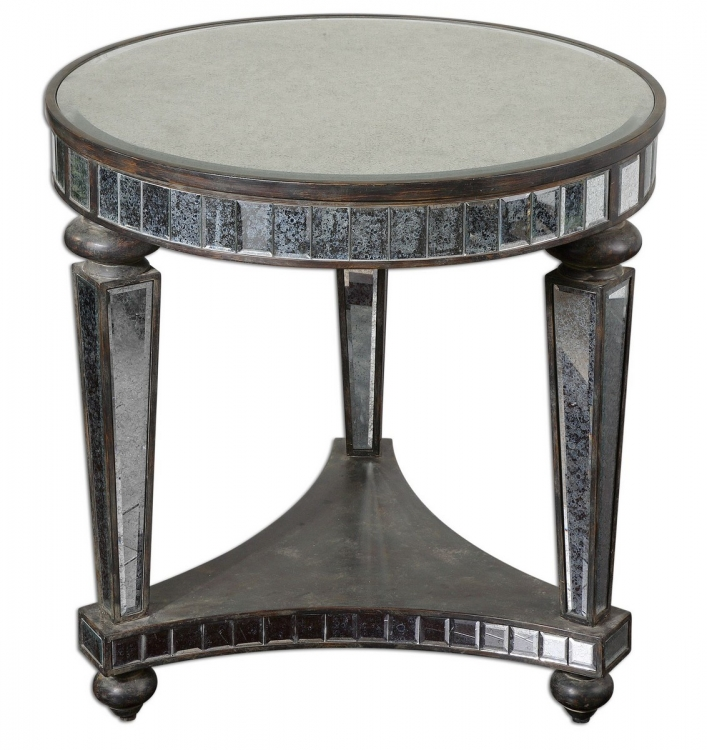 Sinley Mirrored Accent Table