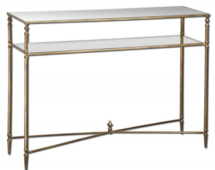 Henzler Mirrored Glass Console Table