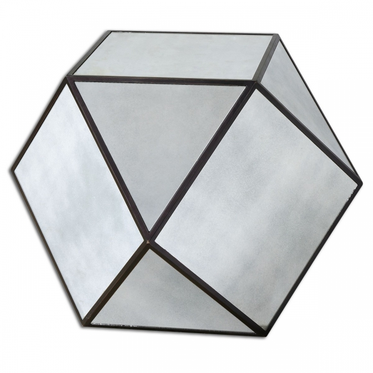 Matty Mirrored Polygon Table