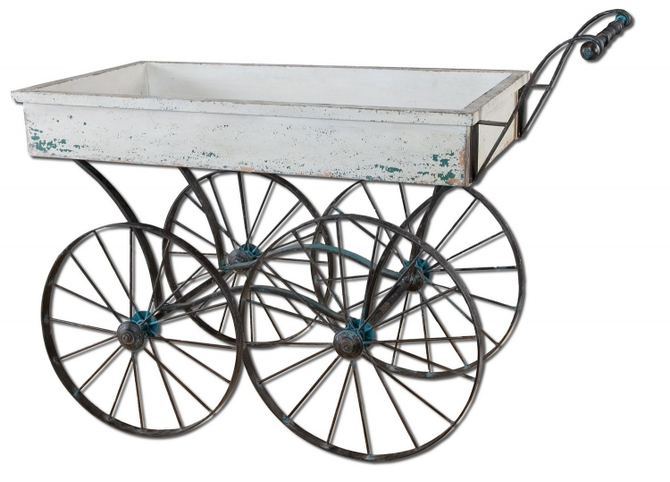 Generosa Weathered Flower Cart
