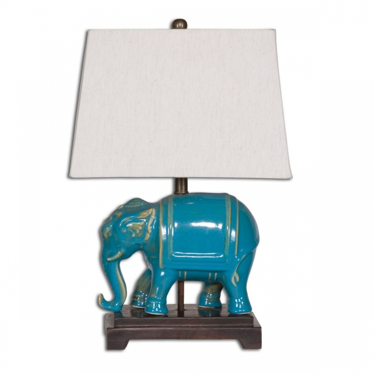 Pradesh Blue Ceramic Table Lamp