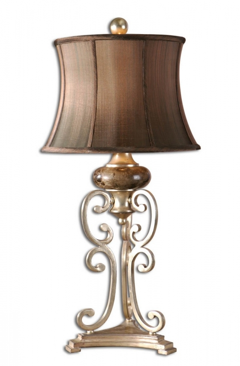 Marcella Antique Silver Table Lamp