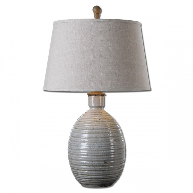Evigan Blue Ceramic Table Lamp