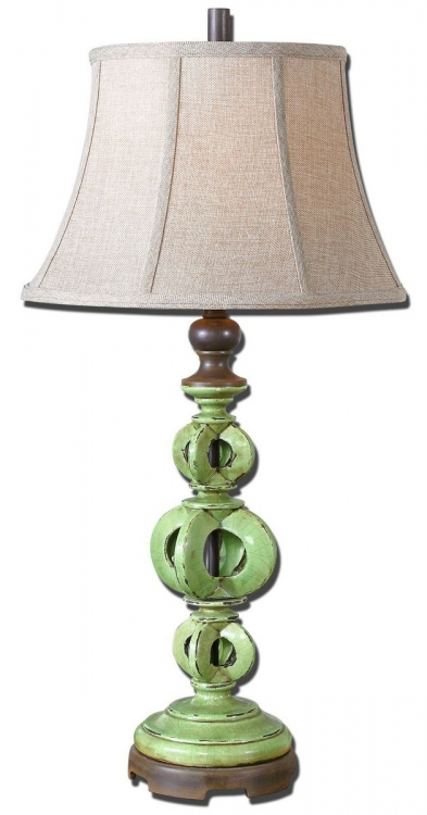 Civita Crackled Green Table Lamp