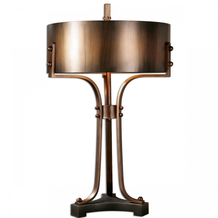 Akron Copper Table Lamp