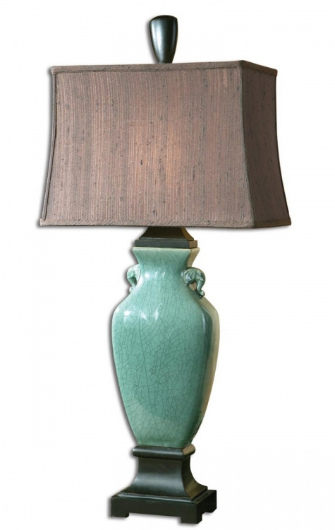 Hastin Turquoise Table Lamp