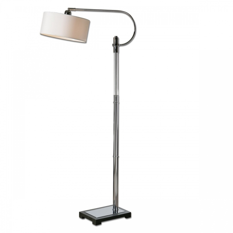 Adara Glass & Chrome Floor Lamp