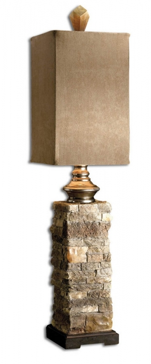 Andean Layered Stone Buffet Lamp