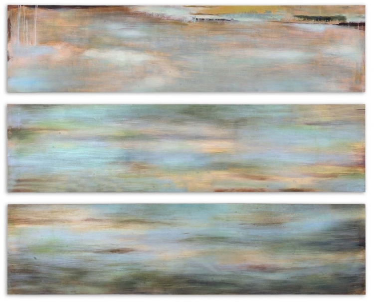Horizon View Hand Painted Panel - Set of 3