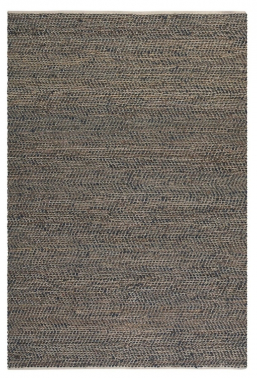 Tobais 5 X 8 Rescued Leather & Hemp Rug
