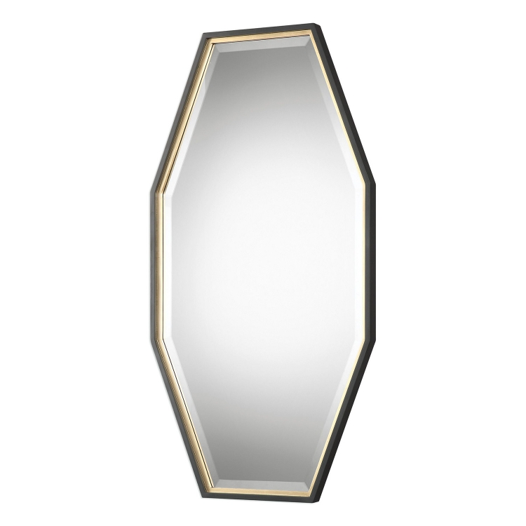 Savion Octagon Mirror - Gold