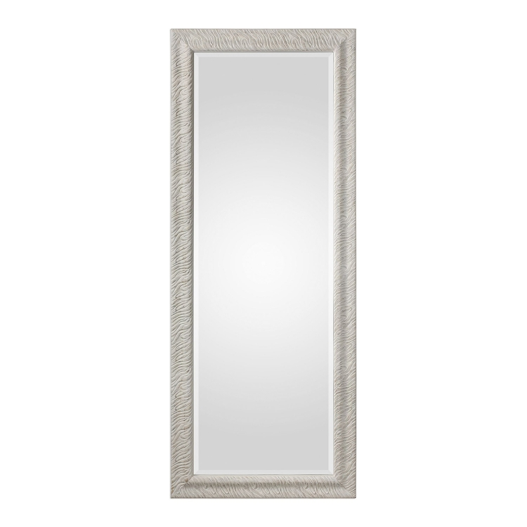 Pateley Wood Mirror - Aged White