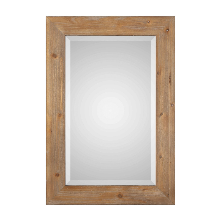 Bullock Wood Mirror - Solid Natural