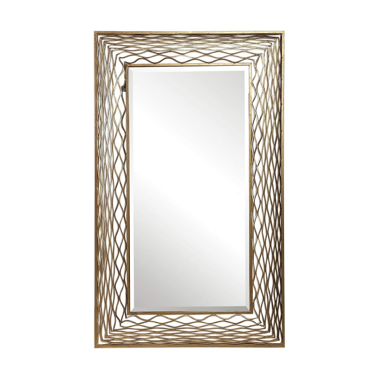 Galtero Rectangle Mirror - Gold