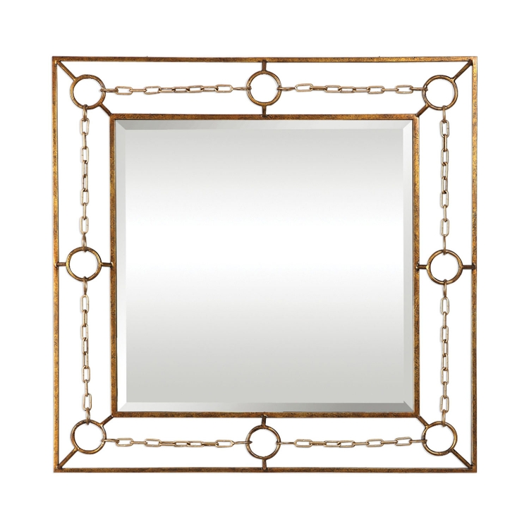 Rafello Chain Mirror - Champagne