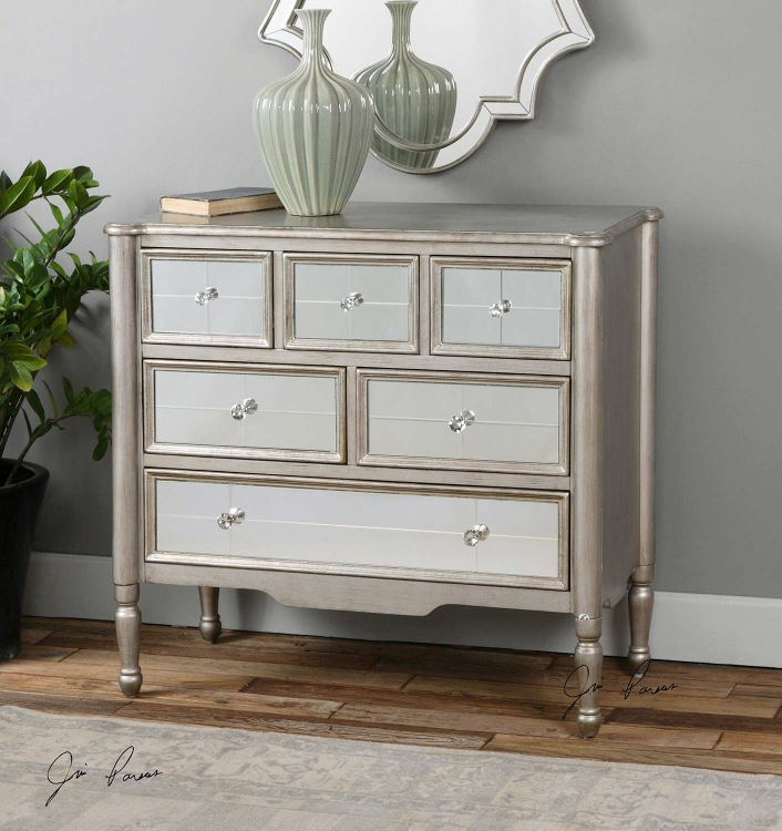 Rayvon Mirrored Accent Chest