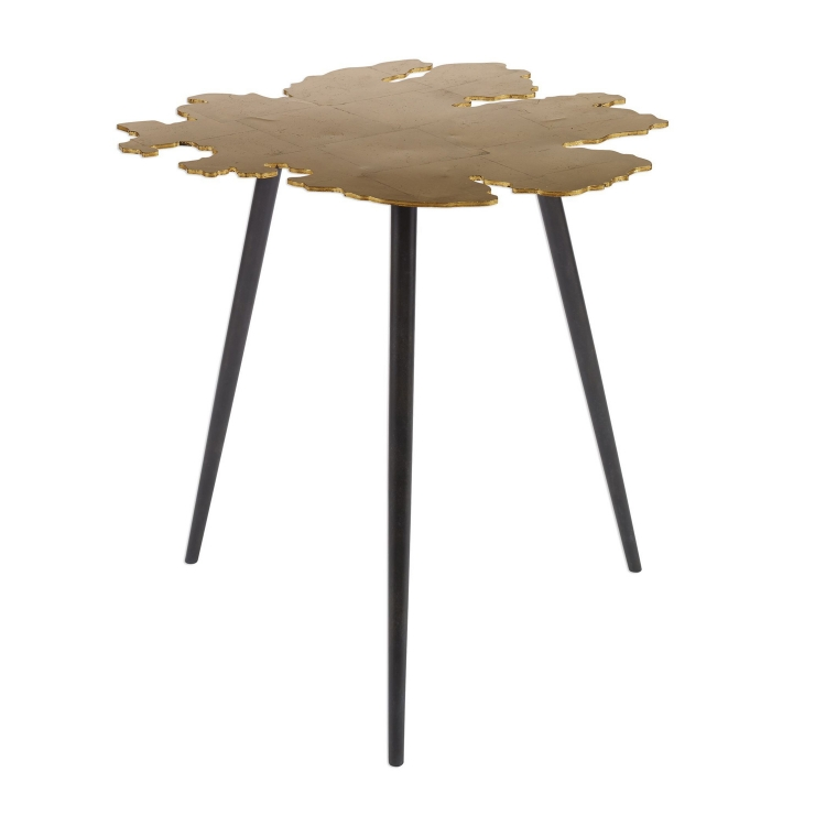 Linden Accent Table - Gold Leaf