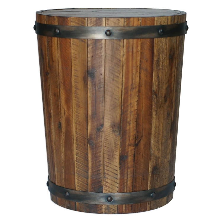 Ceylon Accent Table - Wine Barrel