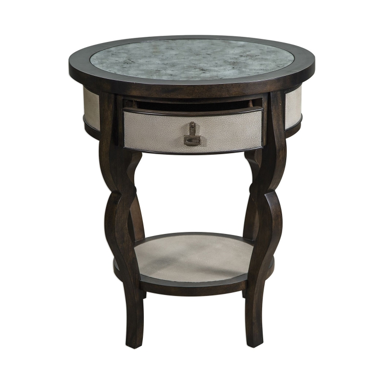 Remy Accent Table - Dark Walnut