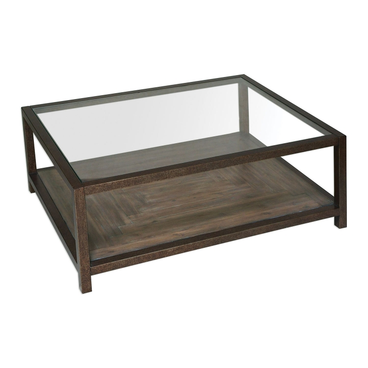 Carter Coffee Table - Bronze