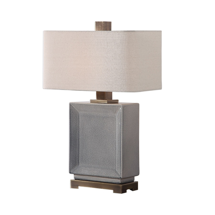 Abbot Table Lamp - Crackled Gray