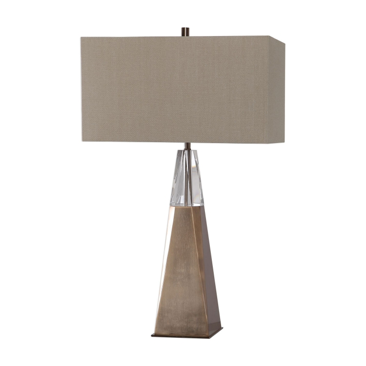 Priam Table Lamp - Plated Brass