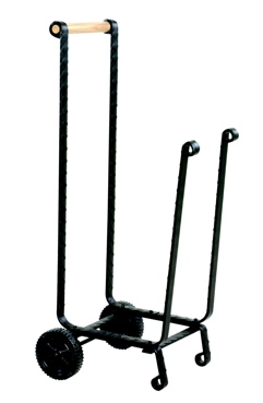 Large Black Log Rack With Wheels-Uniflame