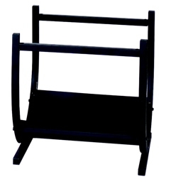 Black Wrought Iron Log Rack-Uniflame