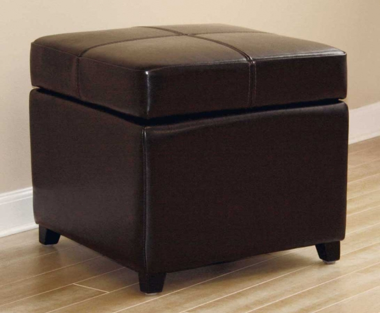 0380 Full Leather Ottoman - Wholesale Interiors