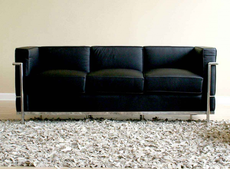 610 Le Corbusier Sofa - Black - Wholesale Interiors