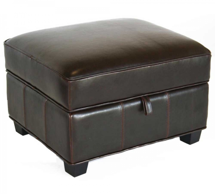 A-136-J001 Leather Ottoman - Wholesale Interiors