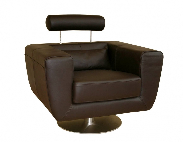 92-P8004 Full Leather Club Chair-Wholesale Interiors