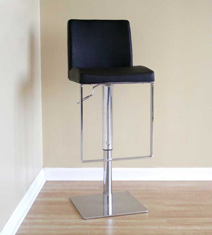Dallas Black Bar Stool - Wholesale Interiors