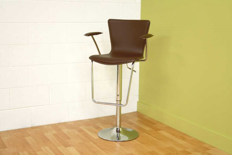 ALC-2219 Brown Bar Stool - Wholesale Interiors