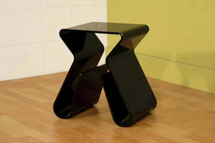 Fay-8196 Black End Table - Wholesale Interiors